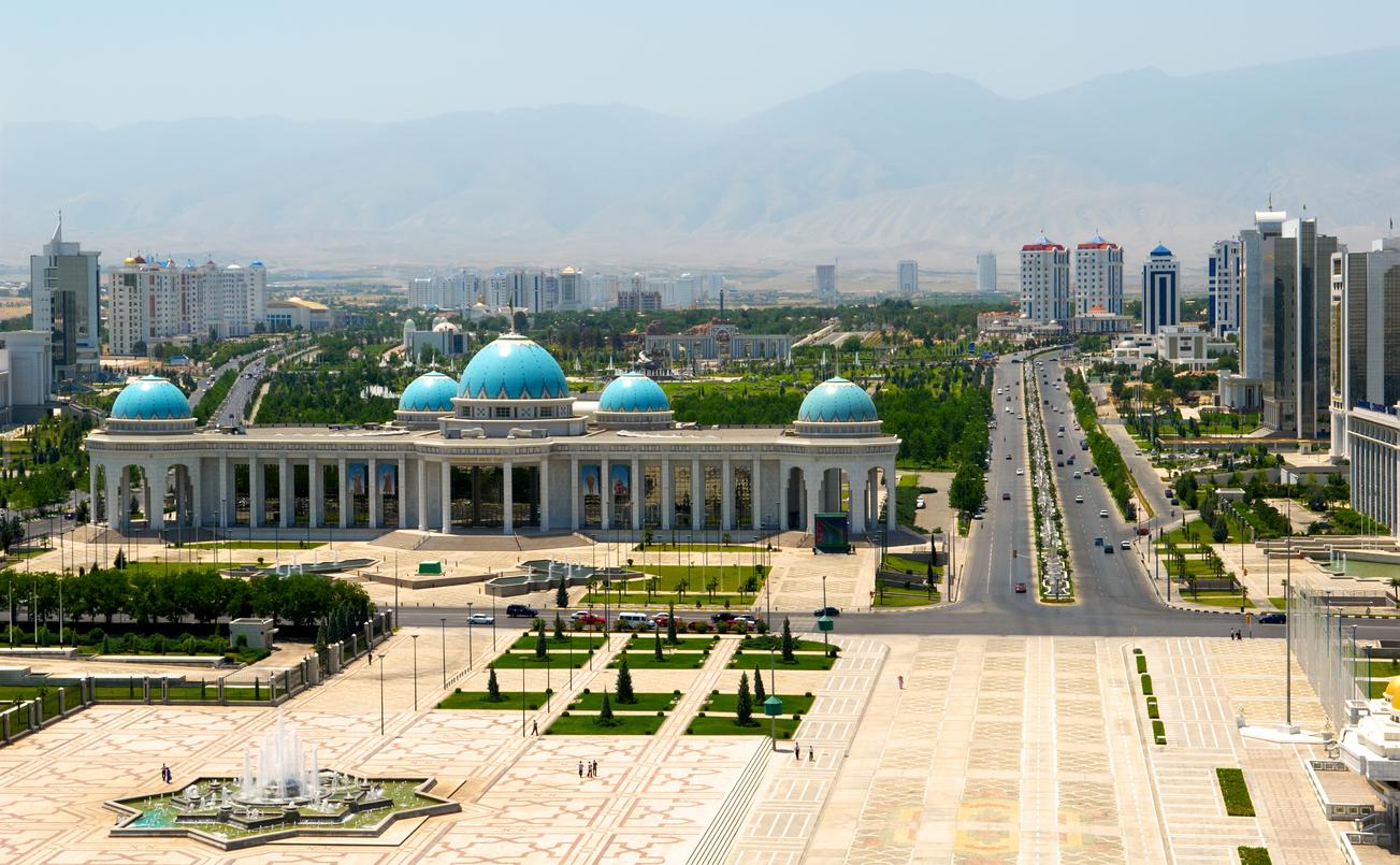 Palais du président à Turkménistan